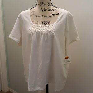 NWT Croft and Barrow White shirt size 3X